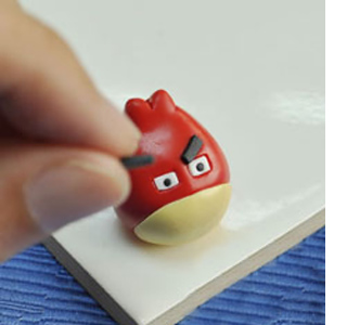 Angry birds keyring for fathers day with modelling clay