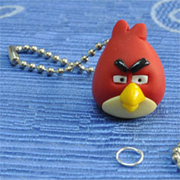 Angry birds key ring with modelling clay