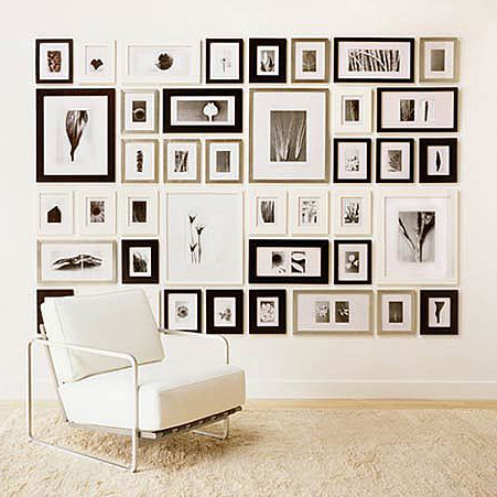 home dzine home decor create a photo gallery wall. Black Bedroom Furniture Sets. Home Design Ideas