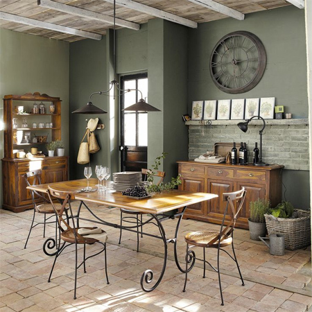 Home dzine home decor decorate a home in modern rustic style for Table et chaise de salle a manger maison du monde