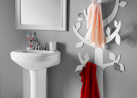 Home Dzine Bathrooms Diy Decorative Tree Towel Hanger