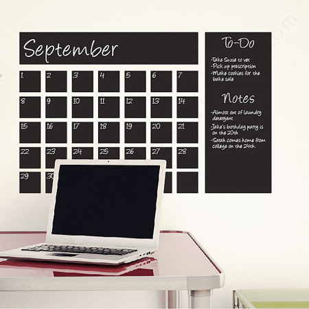 Home Dzine Craft Ideas Diy Chalkboard Wall Calendar Ideas