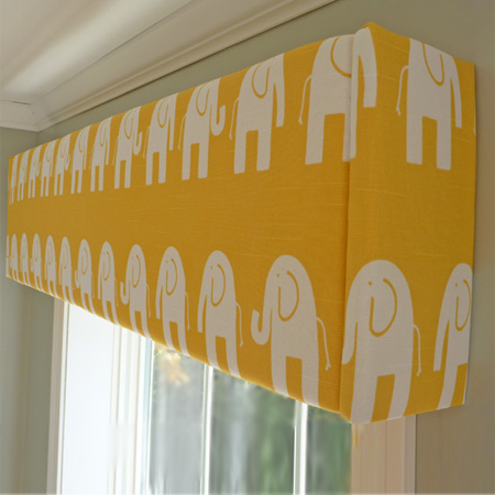 ideas to decorate a nurseryupholstered or fabric covered pelmet