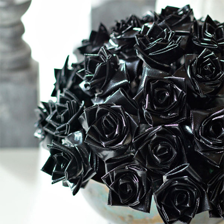 black duct tape roses