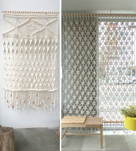 modern macrame screen