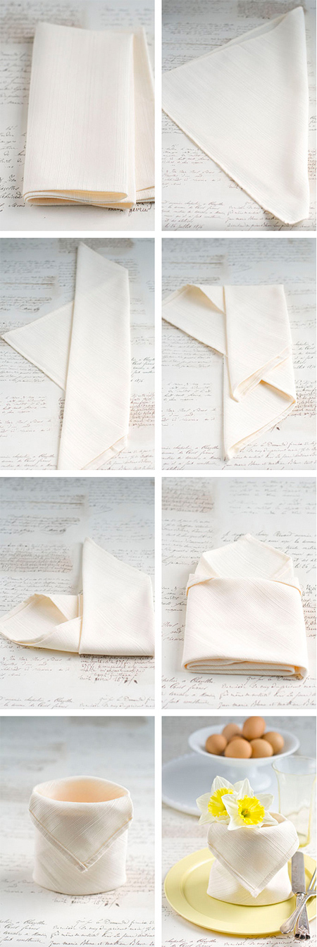 Fold serviettes for a pretty table setting