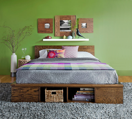 HOME DZINE Bedrooms | Make a platform bed