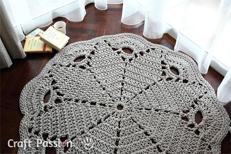 Home Dzine Craft Ideas Crochet A Giant Doily Rug