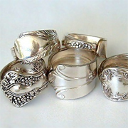 Sterling silver rings from cutlery