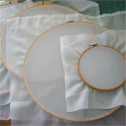 Easy screen printing with embroidery hoops