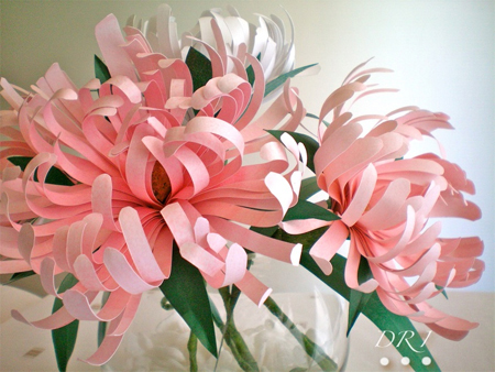 Paper flowers for wedding or display