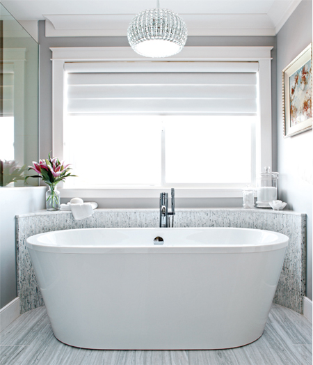 Home dzine bathrooms dated bathroom goes glam for Bathroom ideas co za