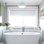 Bathroom goes from dated to glam