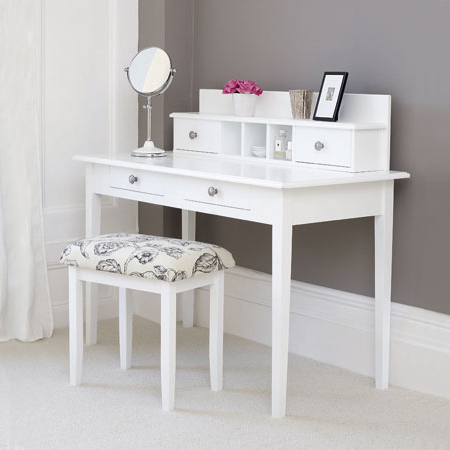 modern white dressing table or writing desk