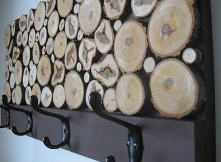 Home Dzine Home Diy Coat Rack With Wood Slices