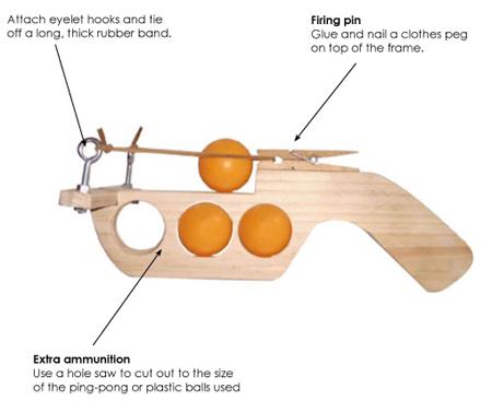 HOME DZINE Craft Ideas | Make a ping-pong ball gun
