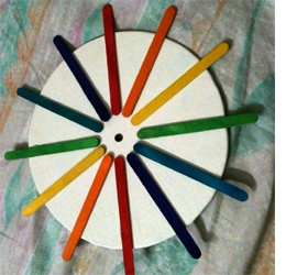 HOME DZINE Craft Ideas | Make a rainbow clock with recycled