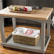 Mobile kitchen countertop or server