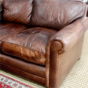 Fix up pancake-flat leather sofa cushions