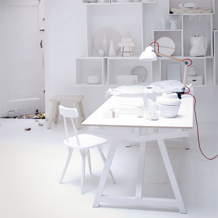 DIY modern furniture for home office scandi scandinavian style white