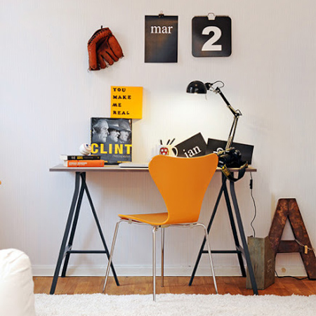 DIY modern furniture for home office scandi scandinavian style trestles