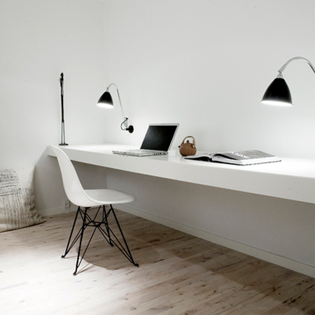 DIY modern furniture for home office scandi scandinavian style worktop