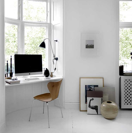 DIY modern furniture for home office scandi scandinavian style small space