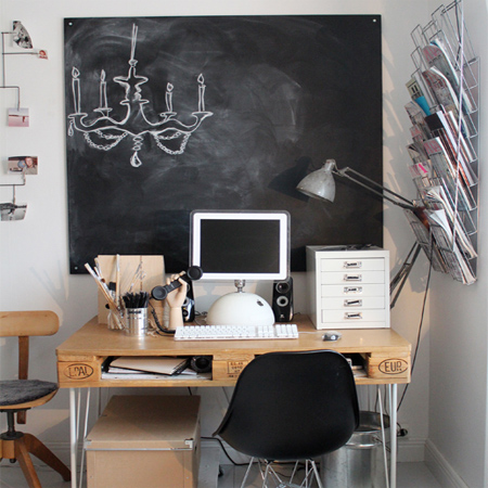 DIY modern furniture for home office scandi scandinavian style reclaimed pallets