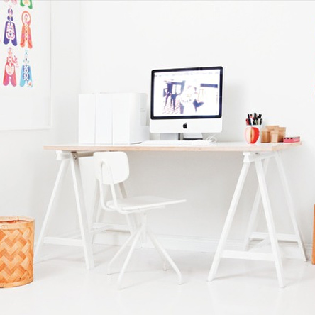 DIY modern furniture for home office scandi scandinavian style trestle legs