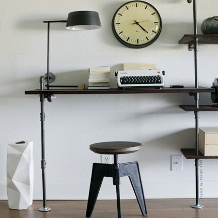 DIY modern furniture for home office scandi scandinavian style galvanised