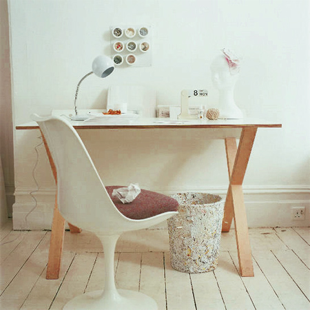DIY modern furniture for home office scandi scandinavian style x legs