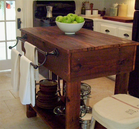 HOME DZINE Home DIY Rustic kitchen island with reclaimed