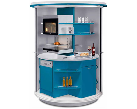 Home dzine kitchen clever compact kitchen for small home for Kitchenette units south africa