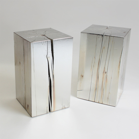 One-of-a-kind coffee tables from reclaimed timber silver