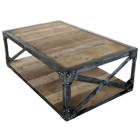 One-of-a-kind coffee tables from reclaimed timber and steel