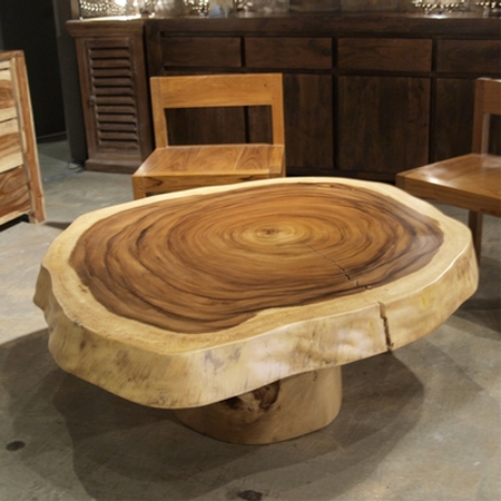 One-of-a-kind coffee tables from reclaimed timber tree ring