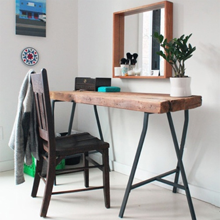 Easy DIY tables with trestle legs reclaimed wood