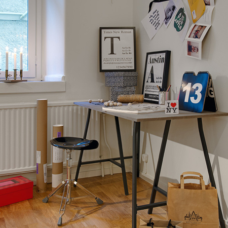 Easy DIY tables with trestle legs home office desk