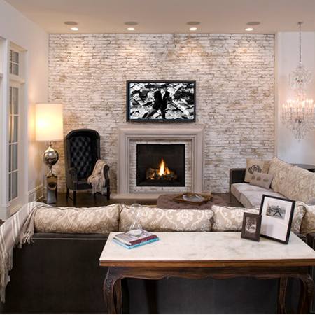 Home dzine home decor 20 divine bare brick interiors for How to decorate a bare living room wall