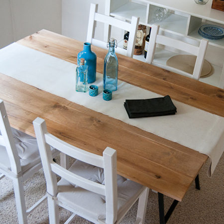 Easy DIY tables with trestle legs cottage dining table