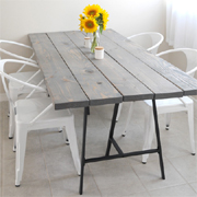 Easy DIY tables with trestle legs