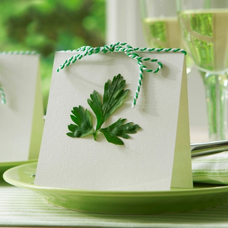 Quick and easy table decor crafts place cards