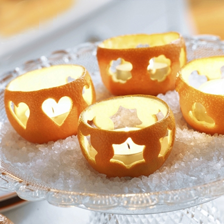 Quick and easy table decor crafts citrus candles