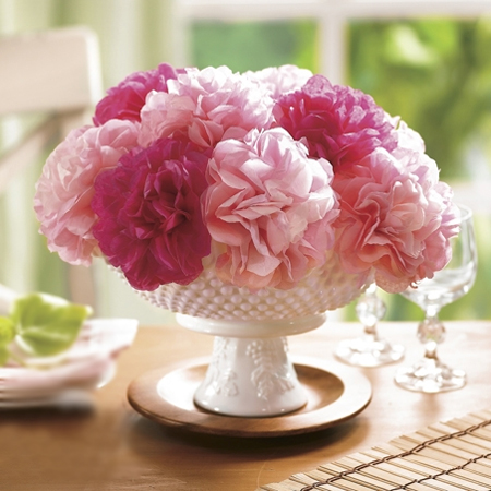 Quick and easy table decor crafts paper flowers