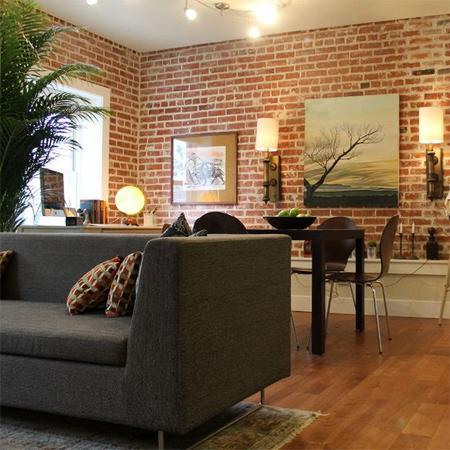 Home Dzine Decor Divine Bare Brick Interiors