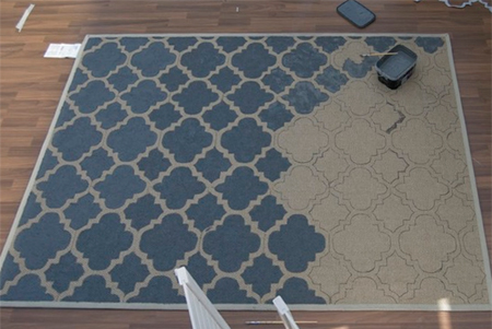 Paint a rug with your own custom design
