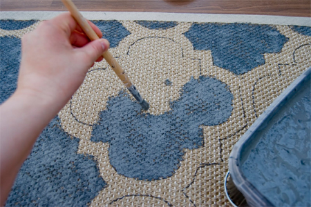 Home Dzine Craft Ideas Paint A Rug With Your Own Custom