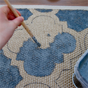 Paint a custom area rug