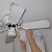 Clean a ceiling fan or room fan