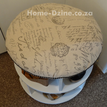 ... Home DIY | Plain or upholstered shoe storage carousel or turntable